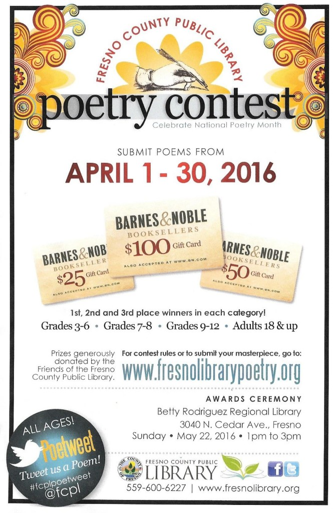 Library Arpil 2016 Poetry Contest